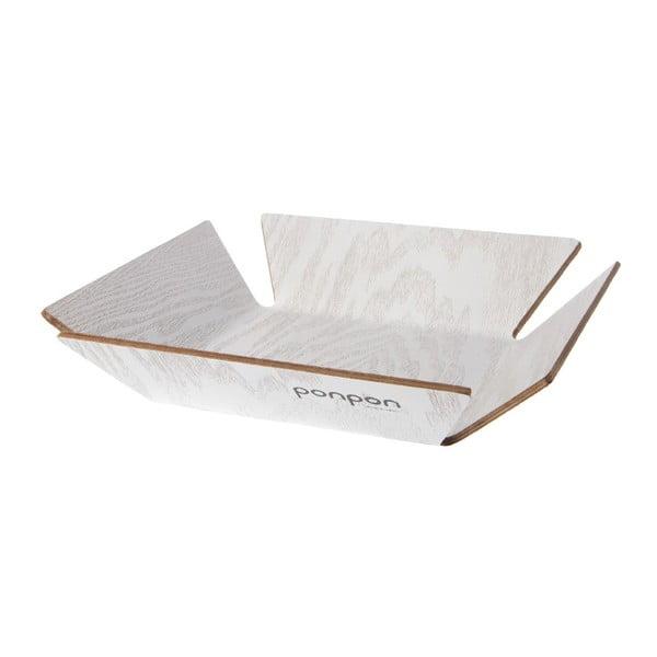 Drevená tácka Trayo 31x31 cm, biely