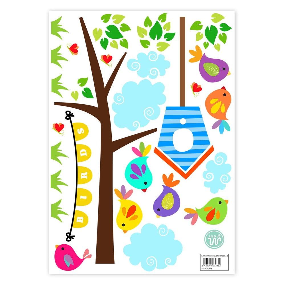 Nástenné samolepky Little W Happy Spring, 29,7 × 42 cm