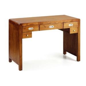 Pracovný stôl z dreva bieleho cédra Moycor Flash, 115 x 55 cm
