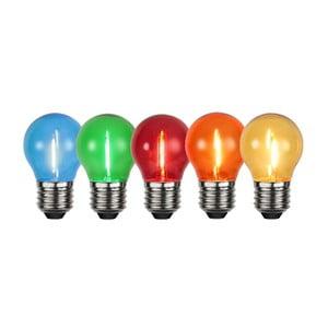 Sada 5 farebných LED žiaroviek Filament