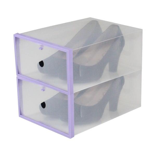 Sada 2 krabíc na topánky Purple Shoe