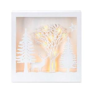 Biela svietiaca LED dekorácia Markslöjd Folkabo, výška 27 cm