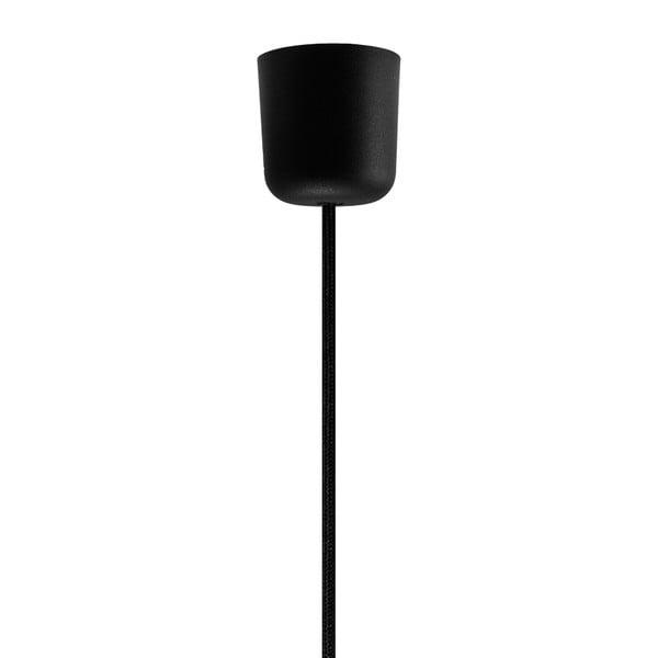 Čierne stropné svietidlo Sotto Luce KAMI, Ø 45 cm