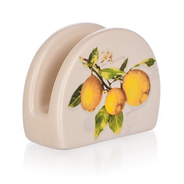 Keramický stojan na obrúsky Banquet Lemon