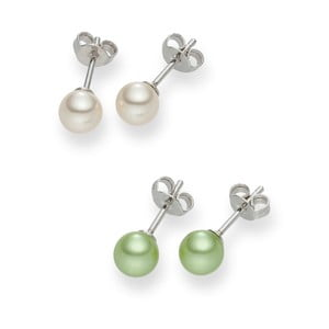 Sada 2 párov perlových náušníc Nova Pearls Copenhagen Asopos
