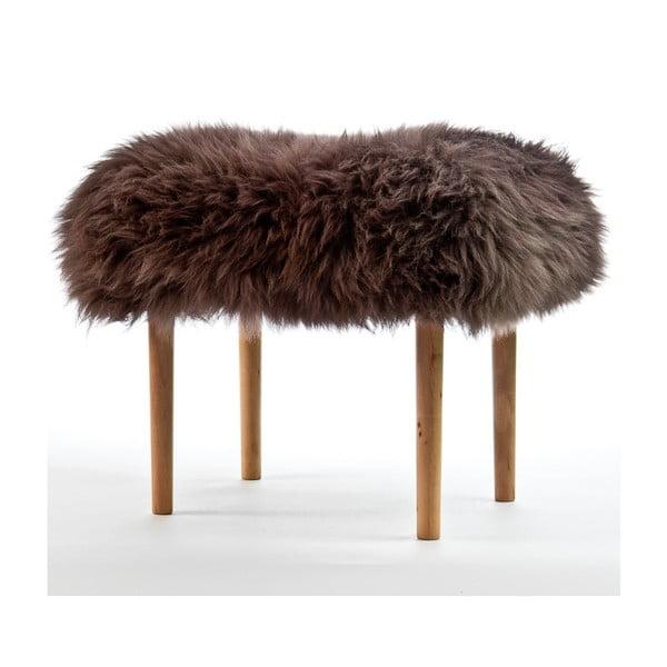 Stolička z ovčej kože Carys Mink
