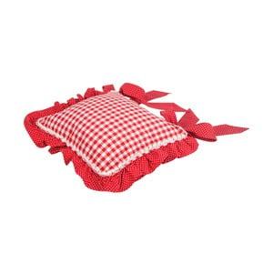 Podsedák Basic Hearts 40x40 cm, červený