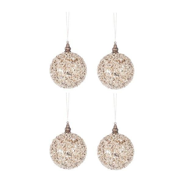 Set 4 dekorácií Glitter Balls XS