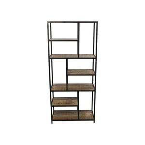 Knižnica z mahagónového dreva HSM collection Levels, 80 × 180 cm