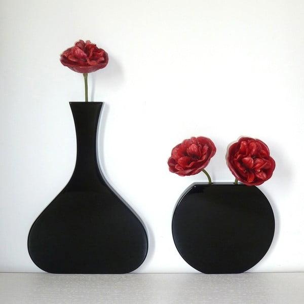 Nástenná váza Vanity Round Black