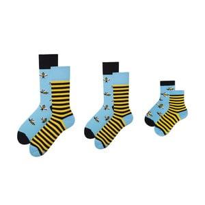 Rodinná sada 3 párov ponožiek v darčekovom balení Many Mornings Bee Medium