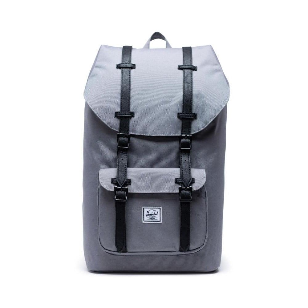 Sivý batoh s čiernymi popruhmi Herschel Little America, 25 l