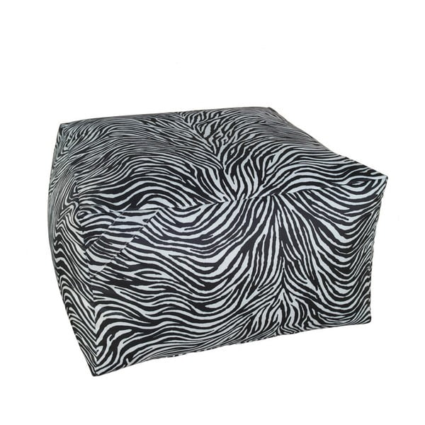 Čierno-biely puf 13Casa Print