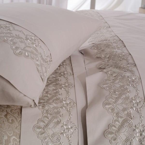 Set obliečok, prestieradla a prikrývky Malhun Beige, 200x220 cm