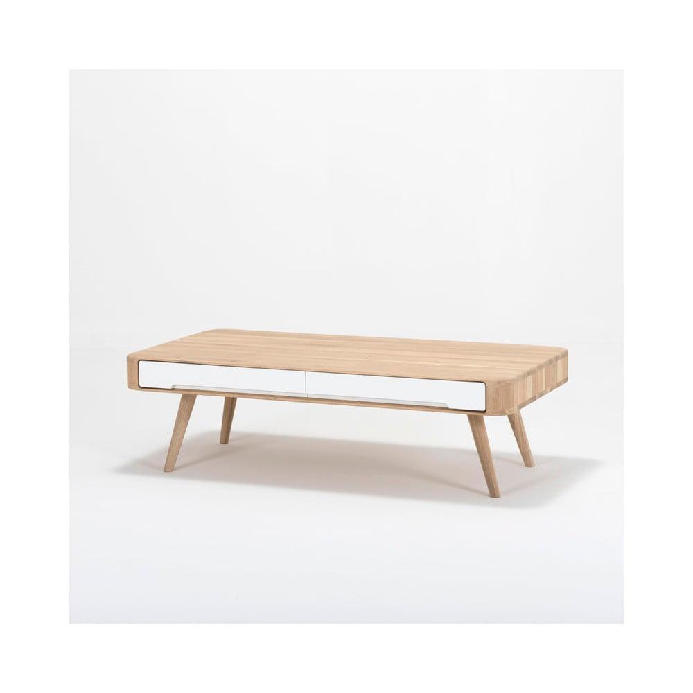 6df9e4c40b78 Konferenčný stolík s konštrukciou z masívneho dubového dreva so zásuvkou  Gazzda Ena