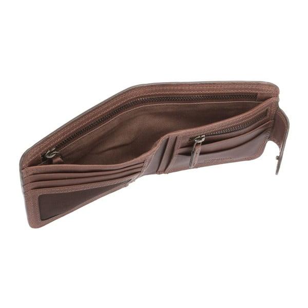 Kožená peňaženka Clark Conker Brown