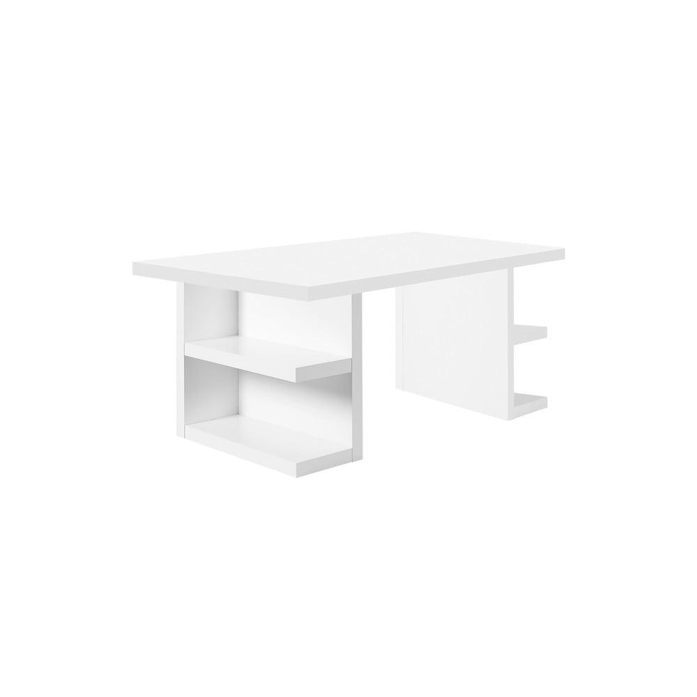 Biely pracovný stôl TemaHome Multi, 160 cm