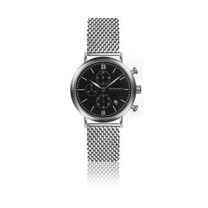 Pánske hodinky s remienkom z antikoro ocele v striebornej farbe Walter Bach Style