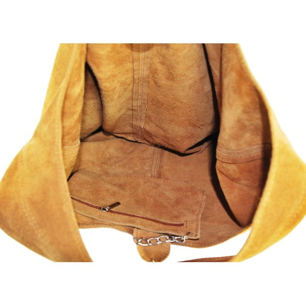 Kožená kabelka Blurisa Cognac
