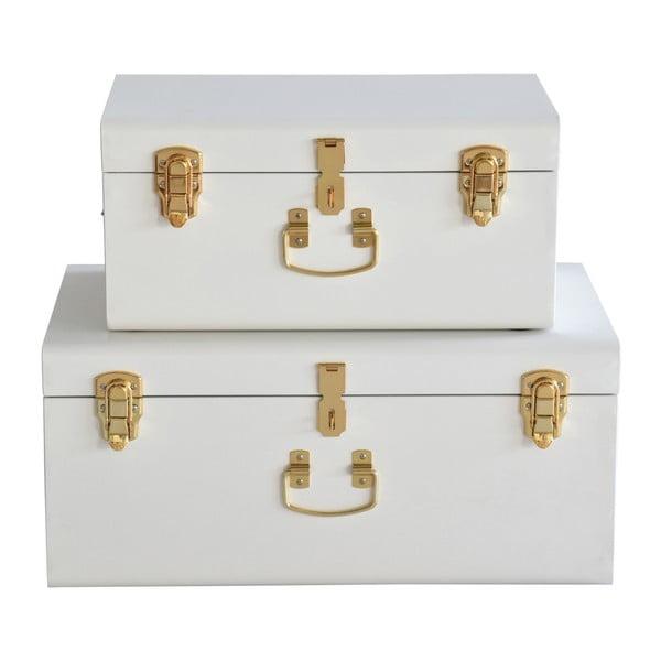 Sada 2 bielych kovových kufríkov RGE Stella Matteus