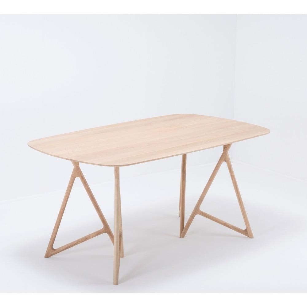 Jedálenský stôl z masívneho dubového dreva Gazzda Koza, 160 × 90 cm