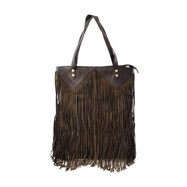 Kožená kabelka Michelle, hnedá