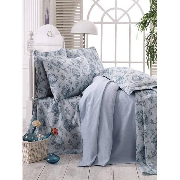 Prikrývka s plachtou Blue Floral, 160x235 cm