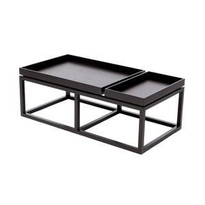 Čierny konferenčný stolík NORR11 Tray
