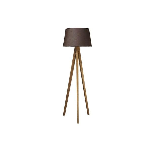 Tripod lampa Wood Dark Brown