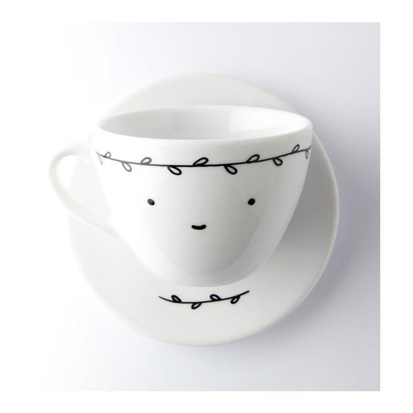 Hrnček na kávu Smiling with White Leaves, 200 ml