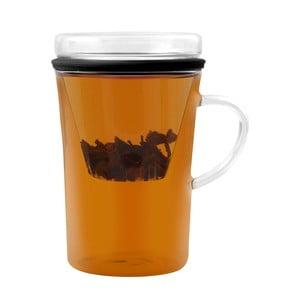 Sklenený hrnček na čaj so sitkom Vialli Design Fuser, 300ml