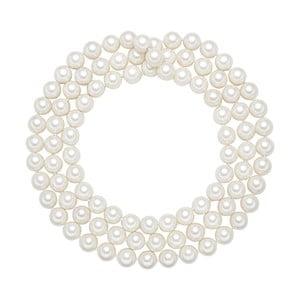 Perlový náhrdelník Muschel, biele perly 12 mm, dĺžka 120 cm