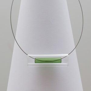 Zelený sklenený náhrdelník ko–ra–leTubes