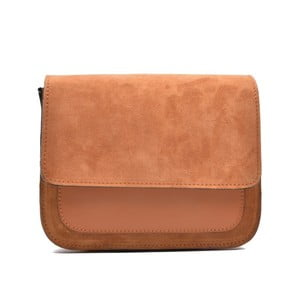 Koňaková hnedá kožená kabelka Mangotti Zoe