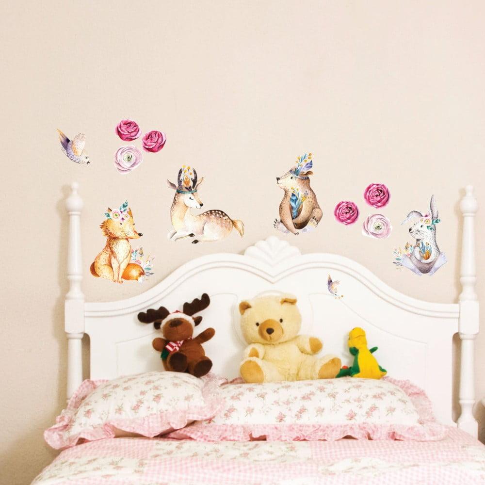 Nástenné detské samolepky Ambiance Cute Forest Animals