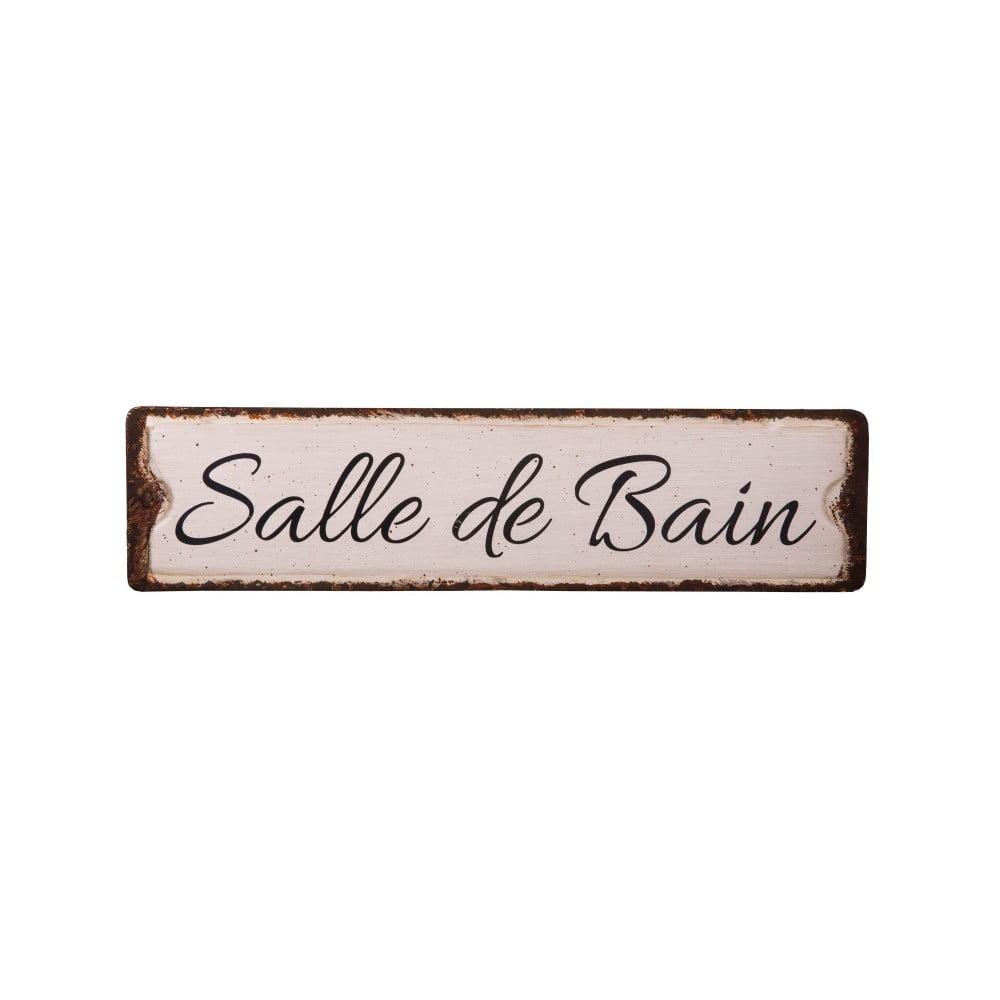 Plechová ceduľa na kúpeľňové dvere Antic Line Salle De Bain
