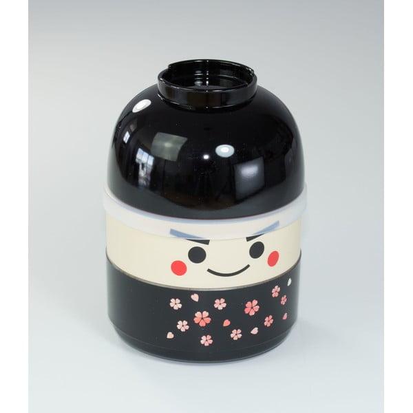 Detský desiatový box Kokeshi Black, 440 ml