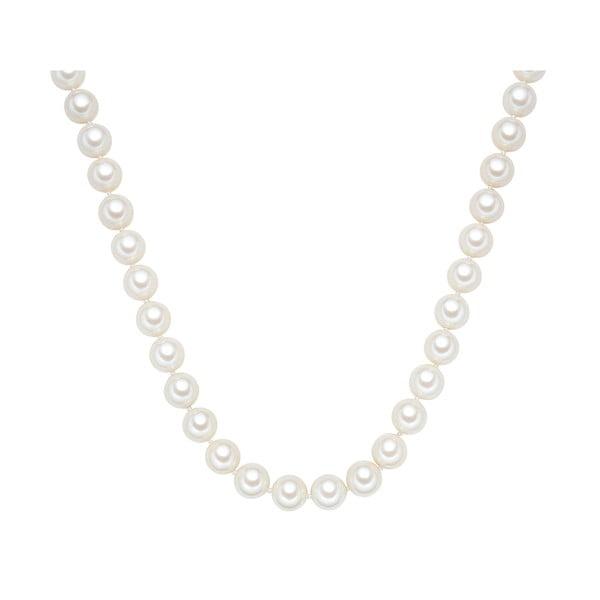 Náhrdelník s bielymi perlami ⌀ 12 mm Perldesse Muschel, dĺžka 60 cm