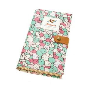 Zápisník Bird, zeleno-ružový