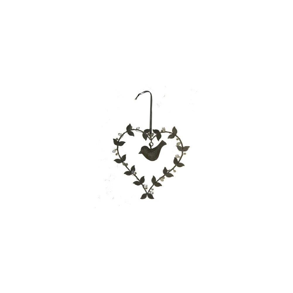 Závesné dekoratívne srdce Antic Line Bird