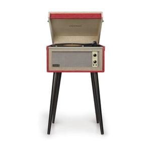 Červený gramofón na nohách Crosley Bermuda