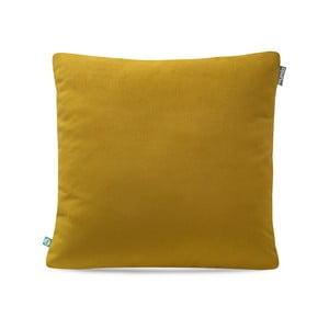 Horčicovožltá obliečka na vankúš Mumla Velour, 45 × 45 cm