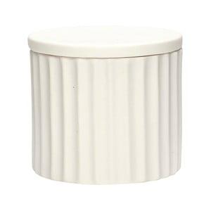 Biela porcelánová dóza s viečkom Hübsch Dilacerant