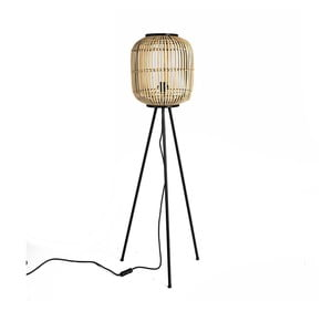 Stojaca lampa s bambusovým tienidlom Simla Natural, výška 116 cm