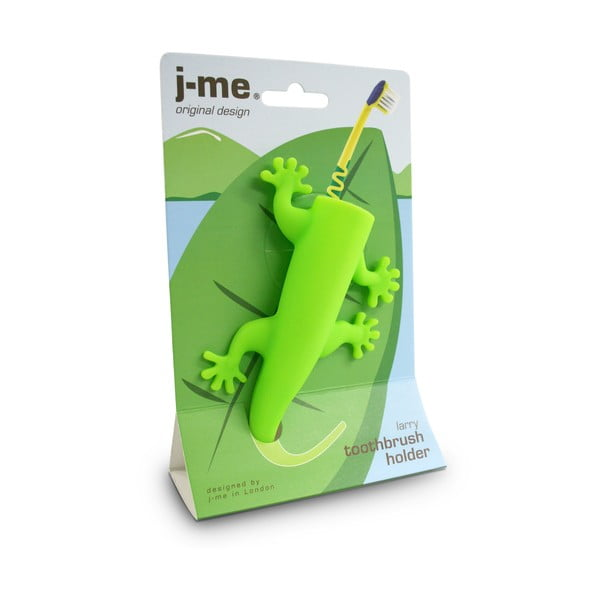 Zelený držiak na zubné kefky J-Me Larry
