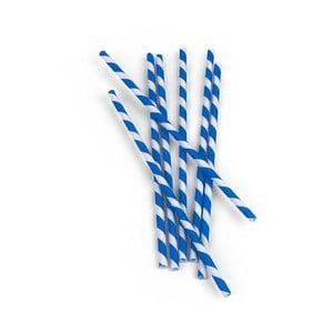 Sada 144 modrobielych papierových slamiek Kikkerland