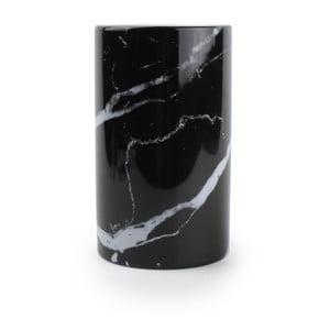 Čierny stojan na kuchynské potreby Salt&Pepper Marble
