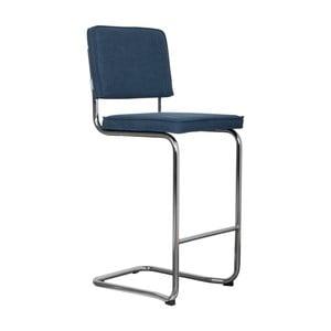 Tmavomodrá barová stolička Zuiver Ridge Kink Vintage