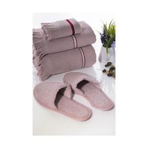 Sada 3 uterákov a papúč Pearly V4
