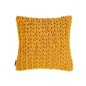 Žltý vankúš ZicZac Waves, 45x45cm